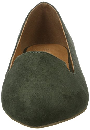 Bianco Damen Spitzer Loafer 25-49347 Slipper Grün (Army Green)