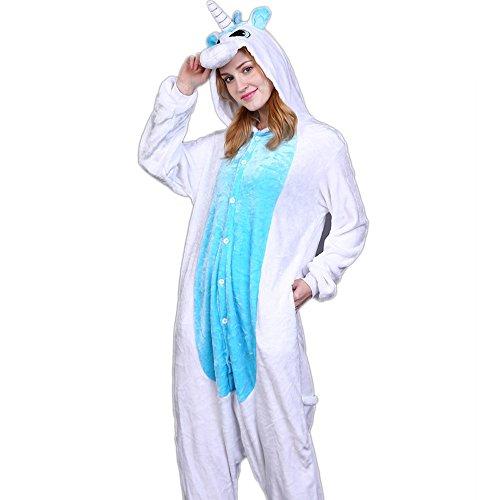 Kostüme Himmels Des Augen (Einhorn Einteiler Pyjamas, Youson Girl® Unisex-Kostüm Einteiler-Pyjama für Erwachsene Jumpsuit Karneval Cosplay Tier (XL: Höhe (69.7inch-72.8inch / 177cm-185cm),)