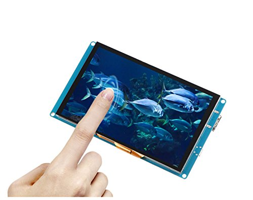 5inch 800*480 Capacitive Touch Screen / TFT Touch Screen LCD HDMI Dispaly with HDMI & USB Interface For Raspberry Pi/BB Black/Windows 10,Mac Book Pro.