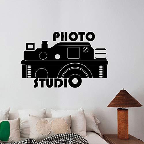 guijiumai Kamera Zeichen Aufkleber Fotostudio Fenster Wandaufkleber Poster Innendekoration Umweltfreundliche Materialien PVC Kunst Aufkleber Wandbild schwarz 89x57 cm