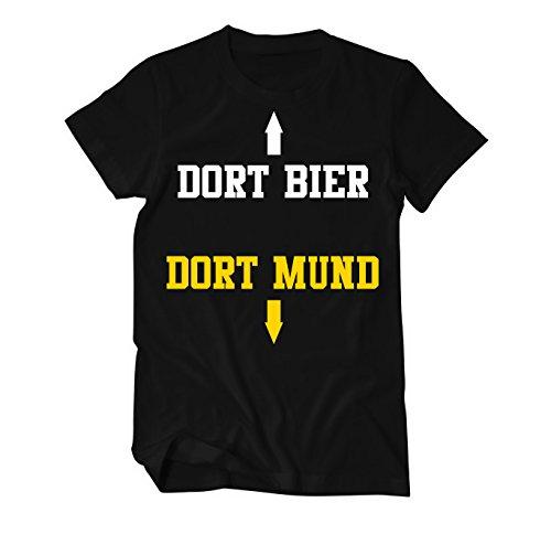 Dort Bier Dort Mund Fun T-Shirt Herren X-Large Schwarz (T-shirt Bier Großes)