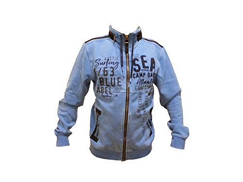 Camp David Sweat Shirt Arctic Surf I arcticblue Sweatjacket with Hood CCB-1808-3750 (XL)