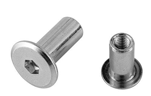 Preisvergleich Produktbild Pollmann Baubeschläge 2260800 Hülsenmutter M 6 x 18 mm verzinkt,  20 Stück