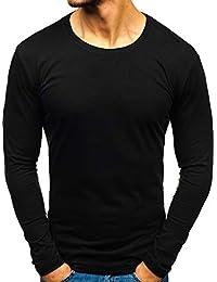 huge discount 89501 ff79f Amazon.it: maglia cotone nera - BOLF / Maglie a manica lunga ...