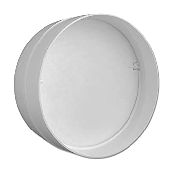 """white rigid ducting fitting splitter 100mm 4/""""  round equal Y piece"""