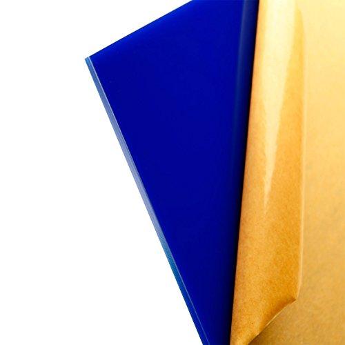 "Acrylic Sheet / Plexi Glass Blue 12"" x 12"" x 3mm"