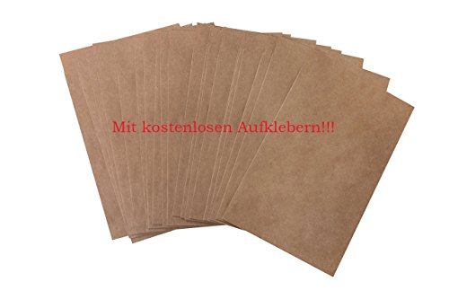 Lot de 50petites Marron Papier sacs sacs cadeaux 10,5x 15cm (+ 2cm languette) Sachets pour les cadeaux, pour calendrier de l'avent bricoler, Bijoux Sachets, Joie larmes, sämereien Papier Kraft