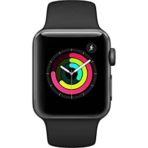 Apple Watch Series 3 Space Gray Black Sport Band (42Mm)