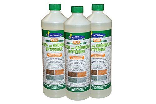 Aqua Clean PUR Algen- und Grünbelag-Entferner 3x1000ml
