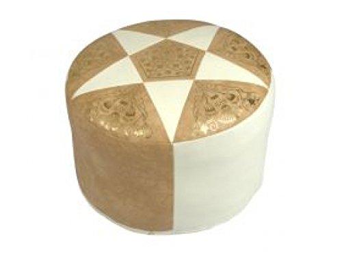 sitzkissen-kunstleder-hellbeige-geflammt-champagner-7200804-oe-50-34-cm