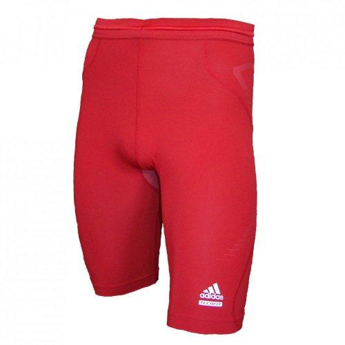 adidas Techfit Prepare Short Tight rot, Größe:XL - Adidas Techfit Tight Shorts