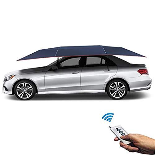 ZTGHS Tenda per Auto, Telecomando per Tenda per Ombrello Automatico per Auto Piegato Portatile con Anti-UV, Resistente all'Acqua, A Prova di Vento, Neve, Tempesta, Caduta di Oggetti,Blu
