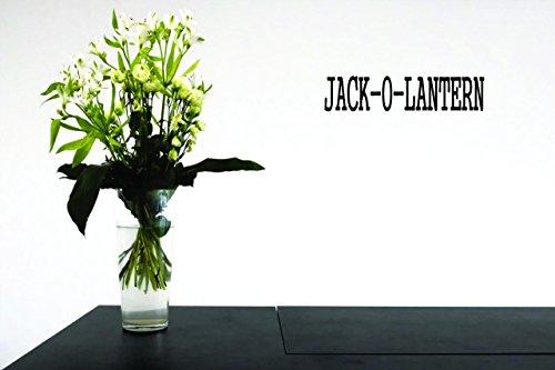 Design mit Vinyl Moti 24221Aufkleber-Abziehen & Aufkleben Wandtattoo: jack- O-Laterne Halloween Urlaub Trick or Treat Farbe: schwarz Größe 20,3x 50,8cm