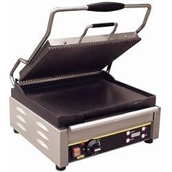 Buffalo singolo grande griglia a contatto a coste top 235x 410x 450MM barbecue elettrico