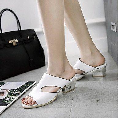 LvYuan Damen-Sandalen-Kleid Lässig Party & Festivität-maßgeschneiderte Werkstoffe Kunstleder-Blockabsatz-Neuheit Club-Schuhe-Blau Rosa Weiß Pink