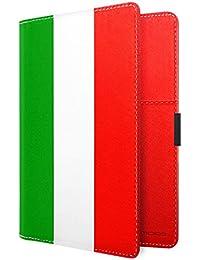 Gep/äckanh/änger Adressanh/änger Kofferanh/änger verdecktes Adressfeld Flagge Italien stabiles Kofferschild 3001004 metALUm
