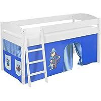 Preisvergleich für Lilokids IDA4105KW-PIRAT-BLAU-S Kinderbett, Holz, Pirat blau, 208 x 98 x 113 cm
