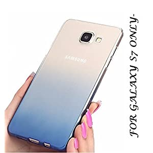 LOXXO Soft Gel TPU Silicone Back Cover for Samsung Galaxy S7 (Blue)