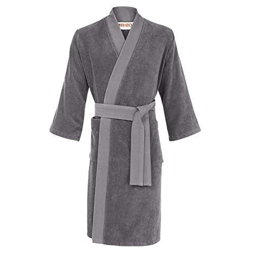 Preisvergleich Produktbild Iconic Men's Kimono Bathrobe Grey,  Medium