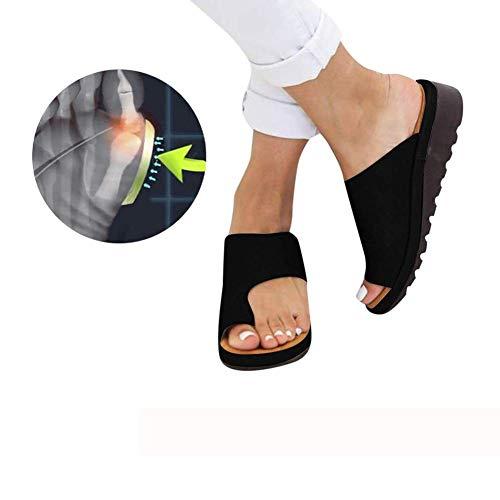 ZMJJ Sandalias Correctoras Mujeres Zapatos Ortopédicos Juanete Corrector Cómoda Plataforma Cuña Casuales...