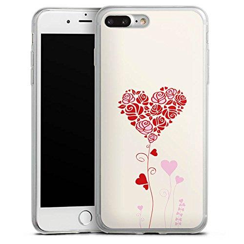Apple iPhone X Slim Case Silikon Hülle Schutzhülle Muster Rosen Herz Love Silikon Slim Case transparent