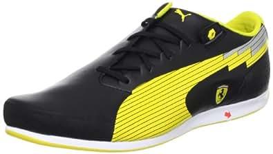 Puma Men's evoSPEED Low SF NM Black and Vibrant Yellow Leather Sneakers - 8 UK/India (42 EU)