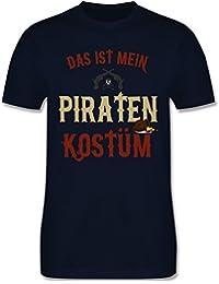 Karneval & Fasching - Das ist Mein Piraten Kostüm - Herren T-Shirt Rundhals