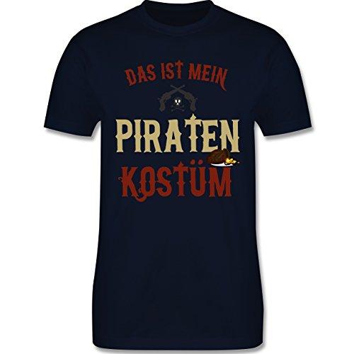 (Karneval & Fasching - Das ist Mein Piraten Kostüm - XL - Navy Blau - L190 - Herren T-Shirt Rundhals)