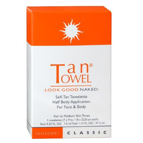 TAN TOWEL Half Body Classic Tanning Product by Tan...