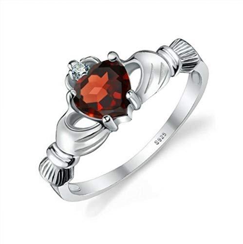 KeavyLee Charmant und attraktiv Damen-kreativer Granatapfel-Rote Zircon-Ring-Hochzeits-Zusatz-Mode Accessories_10