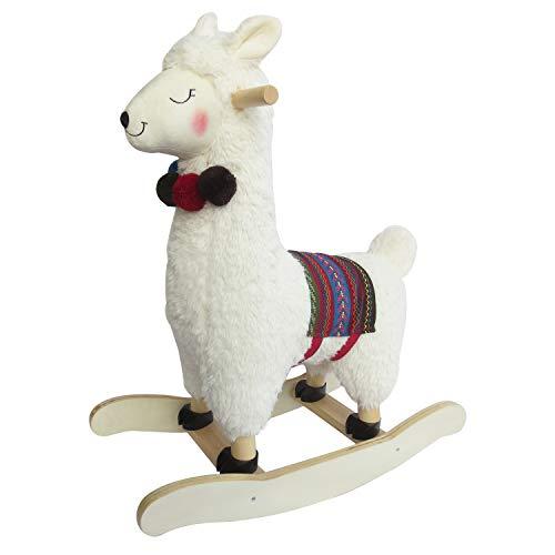labebe Child Rocking Horse Plush, Stuffed Animal Rocker Toy, Alpaca Rocker