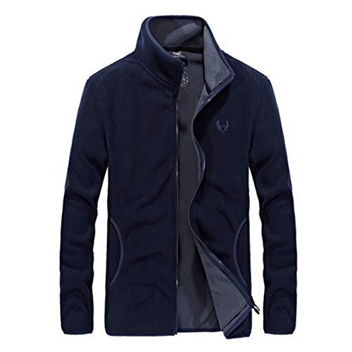 Herren Softshell Fleece Denim Blue Hoodies Sweatshirt Herren Hip Hop Sporting Trainingsanzug Hoody Dark Blue 7XL (Leder Jacke Jordan Hoodie)