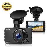 Lamtto Caméra de Voiture Full HD 1080P Dash Cam 3 Pouces Caméra Embarquée Voiture, Caméra de Bord 170°Grand Angle, G-Capteur, WDR, Moniteur de Stationnement