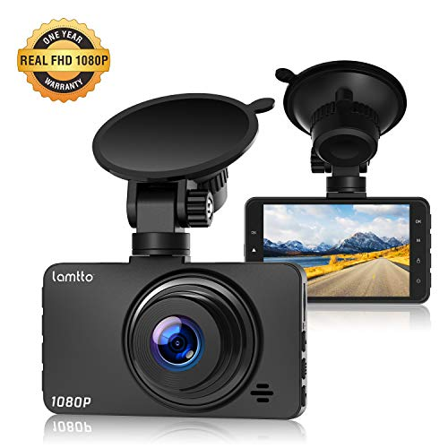 Lamtto Dash Cam, DashCams for Cars,Car Driving Camera 1080P Full HD 3 Inch LCD Screen 170°Wide Angle Dashboard Camera G-Sensor, WDR, Parking Monitor, Loop Recording, Motion Detection Dash Camera