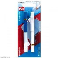 Prym Chalk Pencils + Brush White/Blue