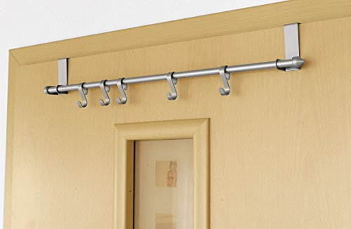 ZHG målad dörr garderob med 5 variabel krok, silver