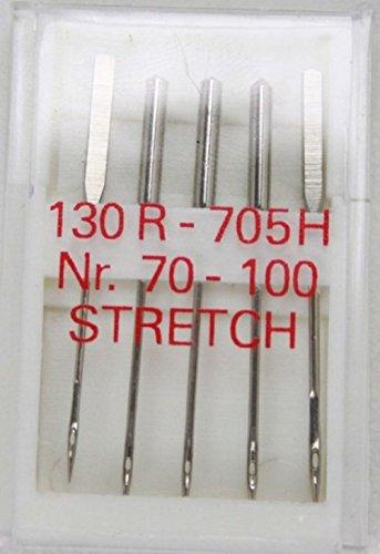 5agujas máquina coser plana pistón 130/705Strech