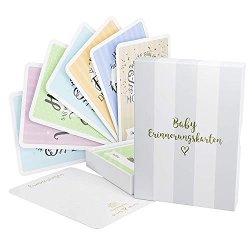 Baby Milestone Cards DEUTSCH – Meilenstein karten – 40 unisex Fotokarten – Geschenkset – Babyparty – Erstes Lebensjahr - 8