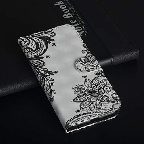 Für ZTE Max XL N9560 (Z986) Hülle, Geschäft Leder Wallet Schutzhülle Case Cover für ZTE Max XL N9560 (Z986) [Lace Flower]