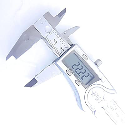 Digitale Schieblehre / Messschieber 150 mm IP 54 aus Edelstahl, + Aufbewahrungsbox