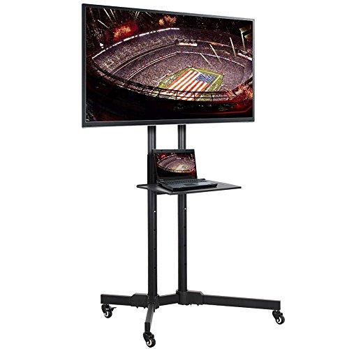 Yaheetech TV Ständer 32-70 Zoll Universal TV Wagen Fernsehtisch mit Halterung Mobile Standfuß höhenverstellbar für LCD LED Tragkraft bis 50kg