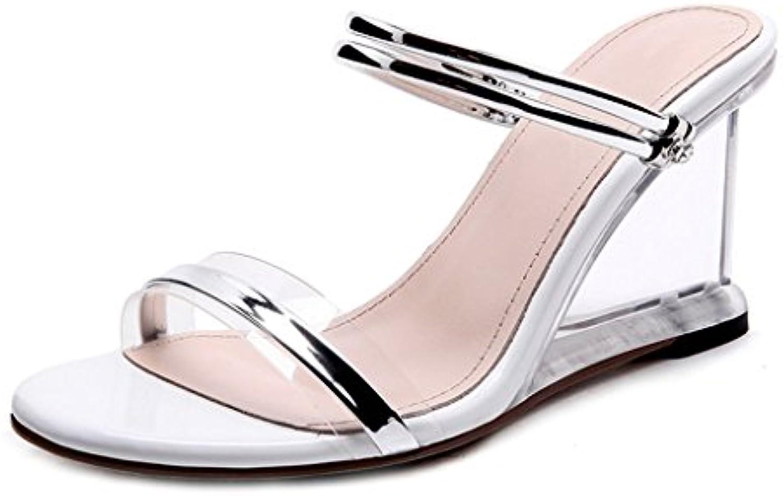 Xi Man Shop Damen High Heel Schuh   Sommer Damen Sandalen Schnalle Damen Sandalen Sommer Plattform Sandalen (Colorö