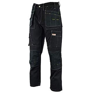 Wright Wears Men Work Cargo Trouser Black Heavy Duty Multi Pockets & Knee Pad Pockets, like Dewalt (30 Waist - 31 Leg)