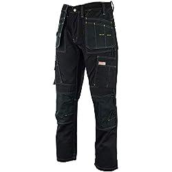 Hommes's Pro Pantalons de Travail Pantalons Cordura Genou Travail Pantalons Cargo Combat Travailleur Tailles comme Dewalt FR: 44/M (34W/31L Taille Fabrication)