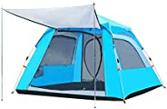 Charhoden SQ-089-B Big Size Family Automatic Four Sided Outdoor camping hiking Tent Blue Large