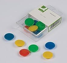 Q-Connect 39392 Aimant Diamètre 24mm Plastique Assorties