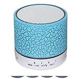 LOEROY Bluetooth Lautsprecher mit Nachttischlampe, of Freisprecheinrichtung zum Telefonieren Unterstützung TF-Karte, Music Player,Blue