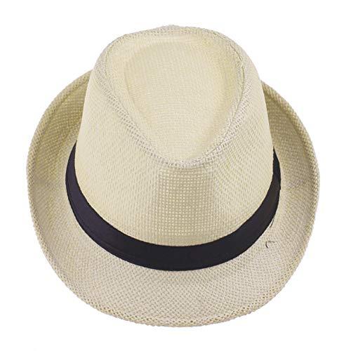 ZXCVBM Sommer-Strand-Sonnenhüte Der Männer Der Stroh-FrauenGangster-Jazzkappe Sun Straw Panama Hat Wholesale