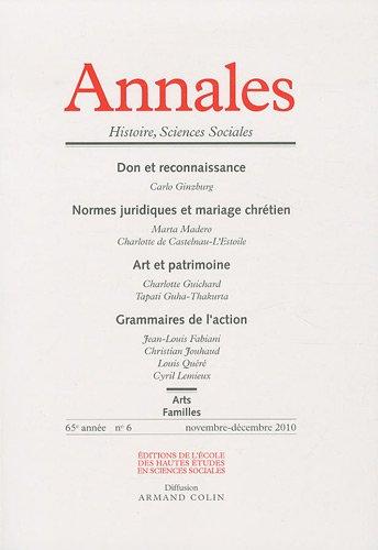Annales. Histoire, Sciences sociales - Vol. 65 (6/2010) par  Collectif