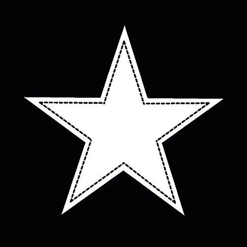 Star black - Stern weiß auf schwarz / Muster 33x33cm ()